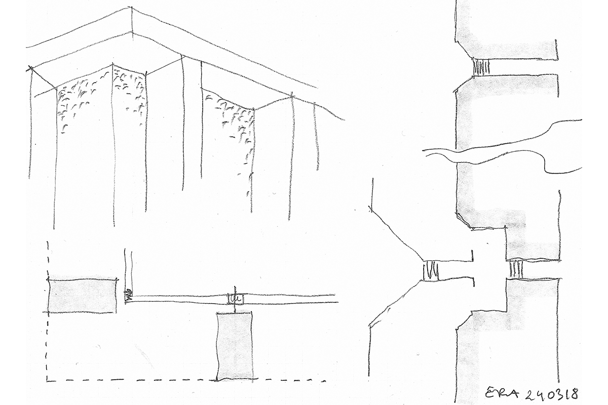 Delgoffe architecture : Croquis